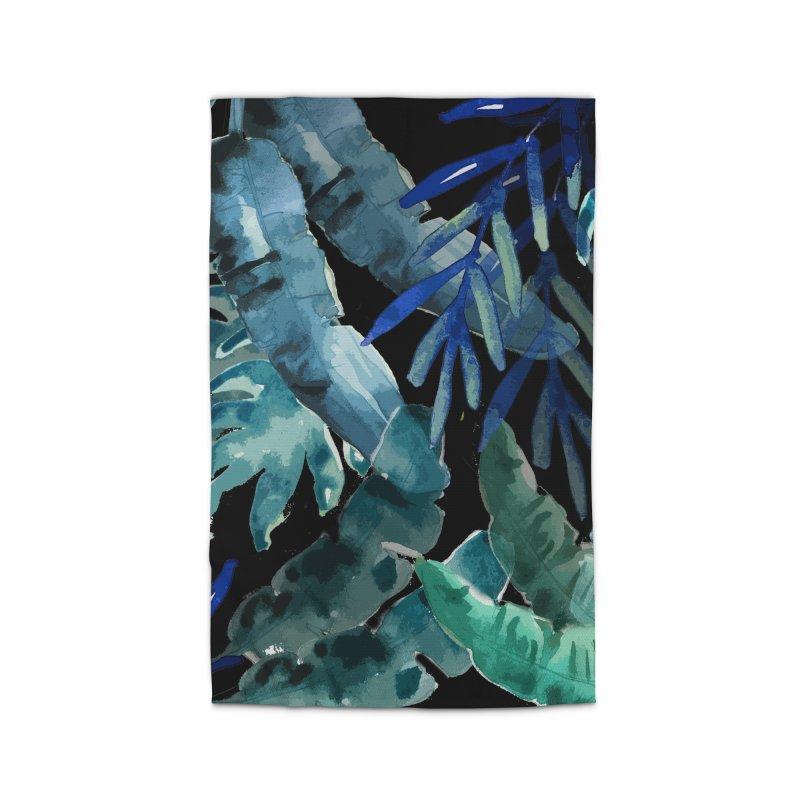 Tropical Mix black Home Rug by mukta lata barua's Artist Shop