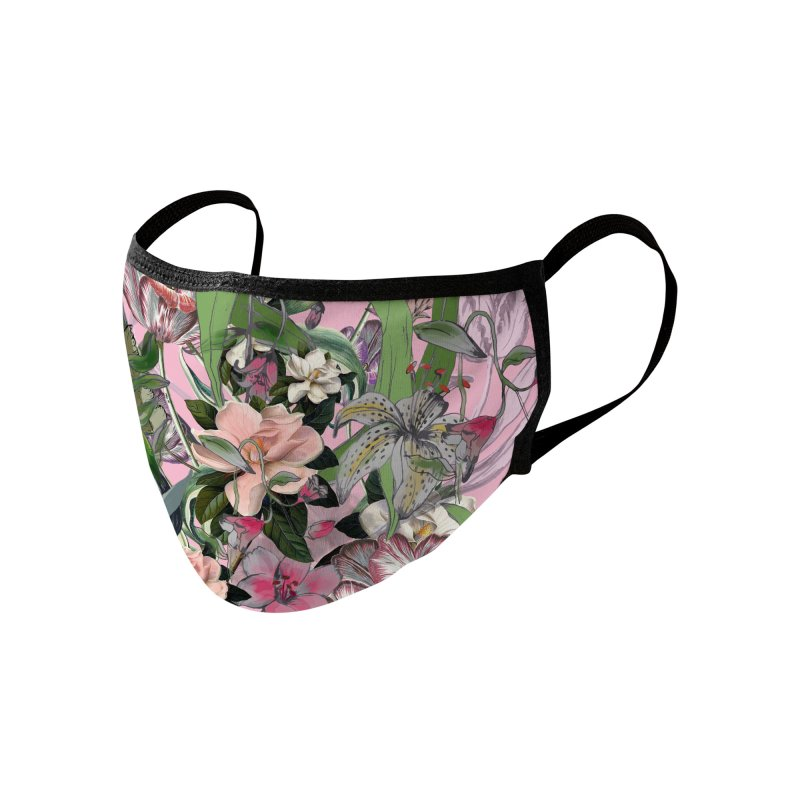 Painted Flowers Accessories Face Mask by mukta lata barua's Artist Shop