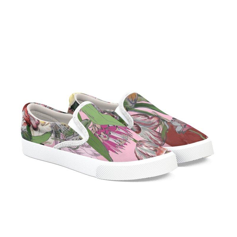 Painted Flowers Women's Shoes by mukta lata barua's Artist Shop