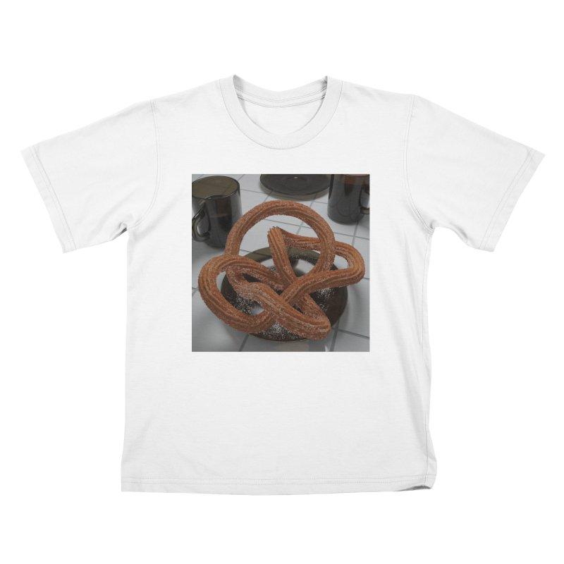 churro knot Kids T-Shirt by m u l t i d i m e n s i o n a l