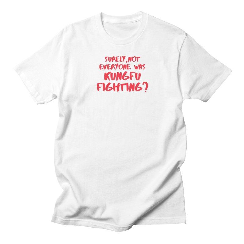 Kungfu Fighting in Men's Regular T-Shirt White by multipleshirts