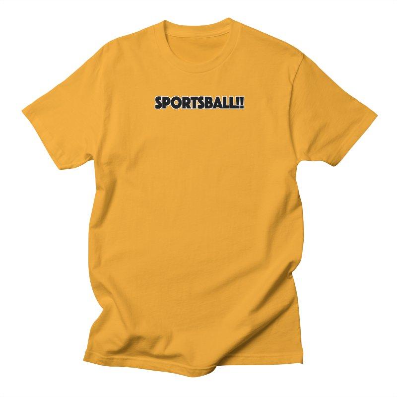 Sportsball!! in Men's Regular T-Shirt Gold by multipleshirts