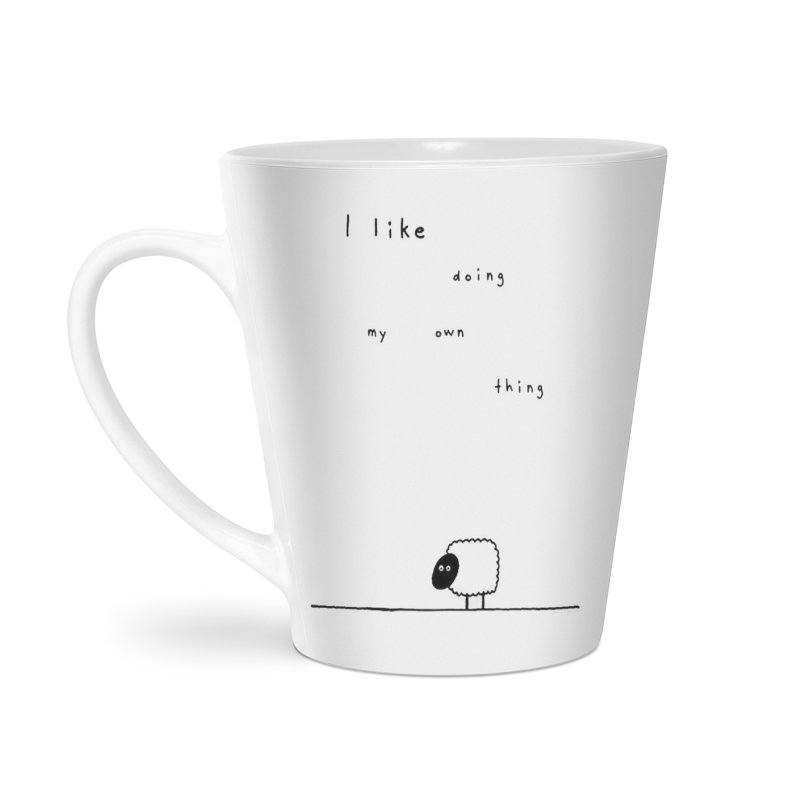I like doing my own thing Accessories Latte Mug by multipleshirts