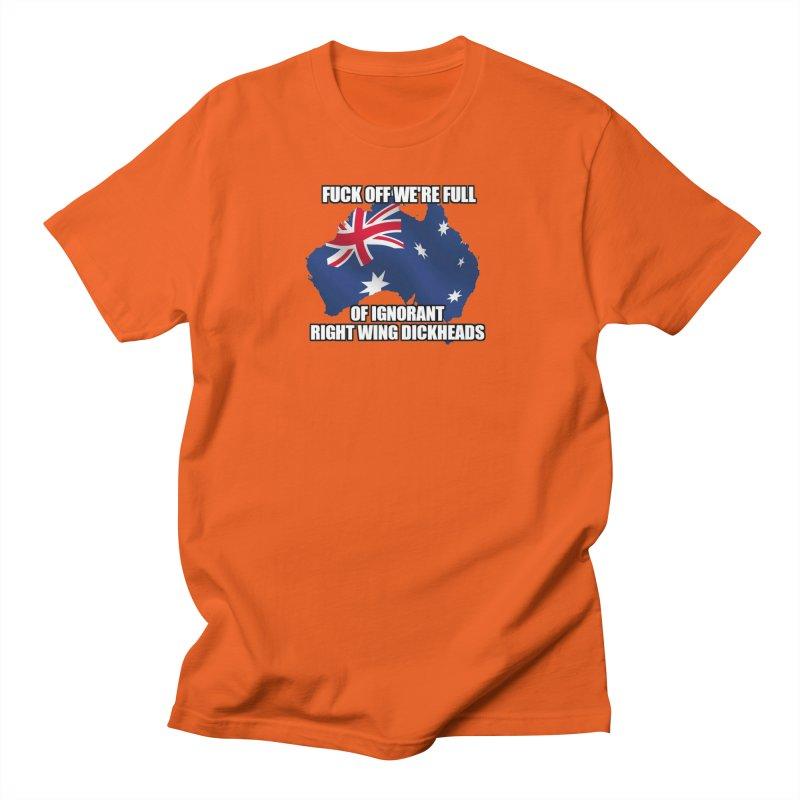 Ignorant Rightwing Dickheads in Men's Regular T-Shirt Orange Poppy by multipleshirts