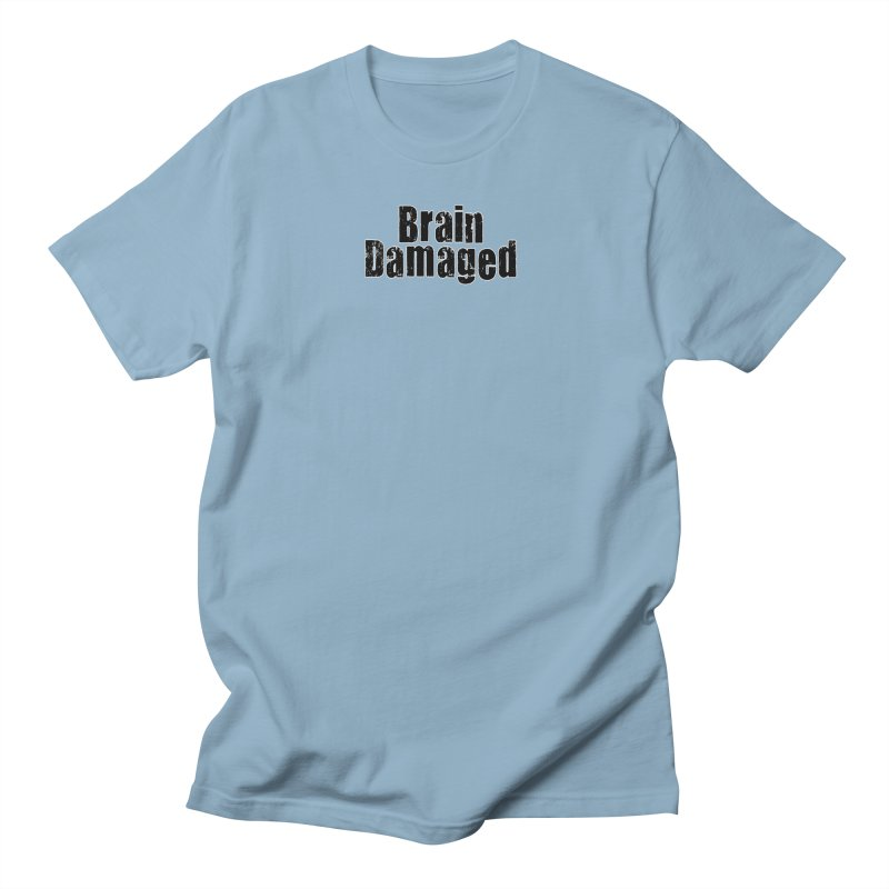 Brain Damaged in Men's Regular T-Shirt Light Blue by multipleshirts