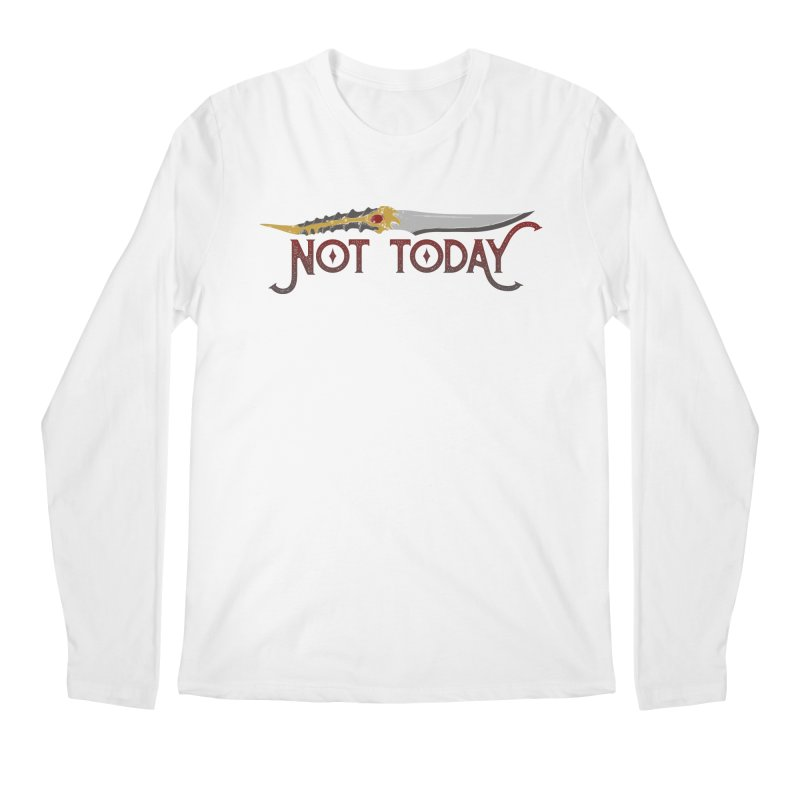 Not Today Men's Longsleeve T-Shirt by Wicked and Wonder