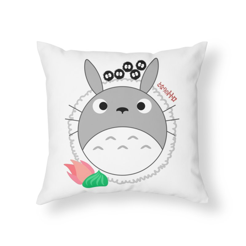 Totoroll Home Throw Pillow by Wicked and Wonder