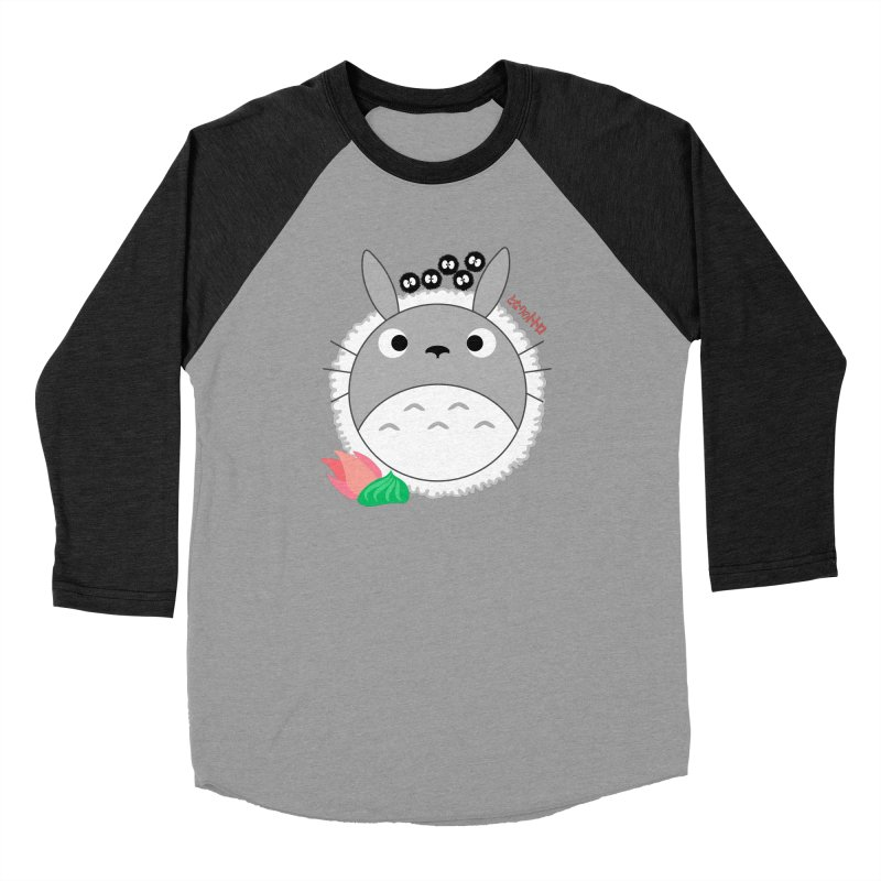 Totoroll Men's Baseball Triblend Longsleeve T-Shirt by Wicked and Wonder