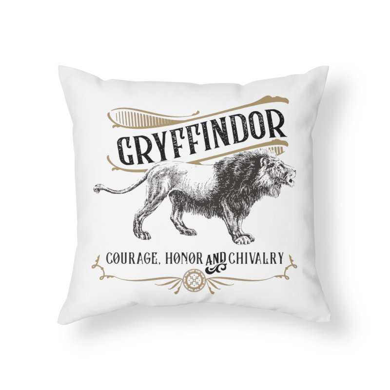 House of Gryffindor Home Throw Pillow by Wicked and Wonder