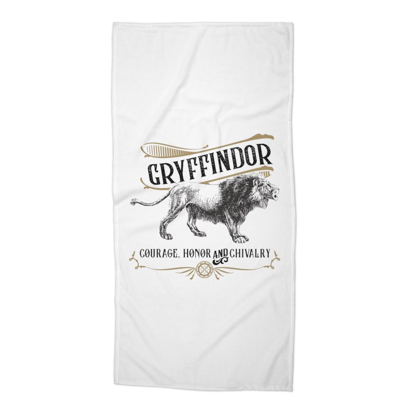 House of Gryffindor Accessories Beach Towel by Wicked and Wonder