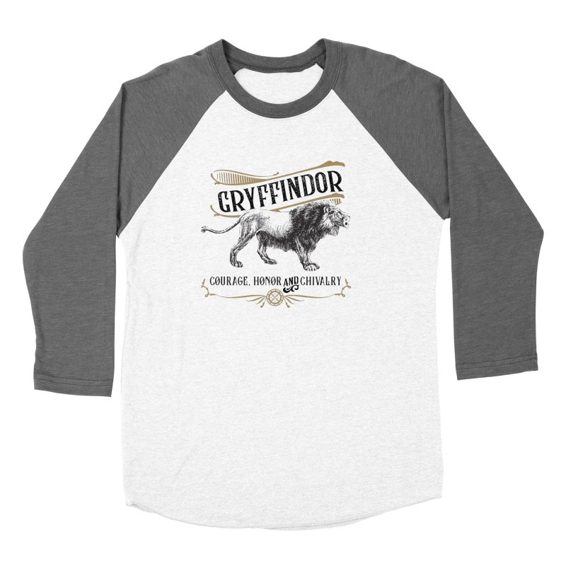 House of Gryffindor Men's Baseball Triblend Longsleeve T-Shirt by Wicked and Wonder