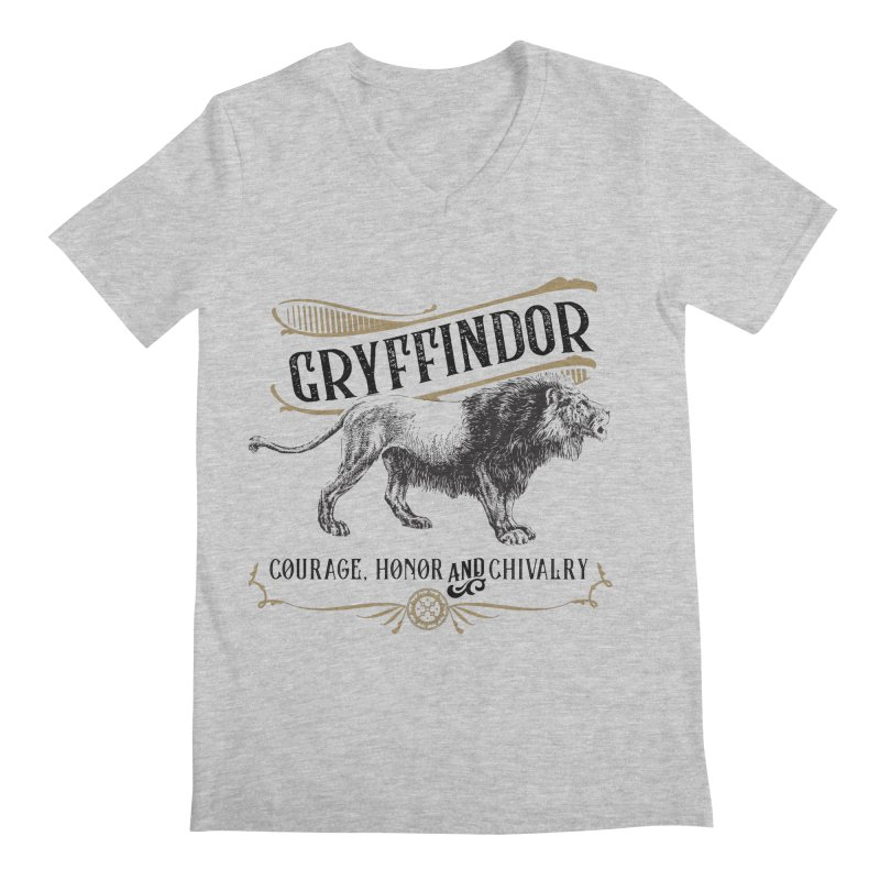 House of Gryffindor Men's V-Neck by Wicked and Wonder
