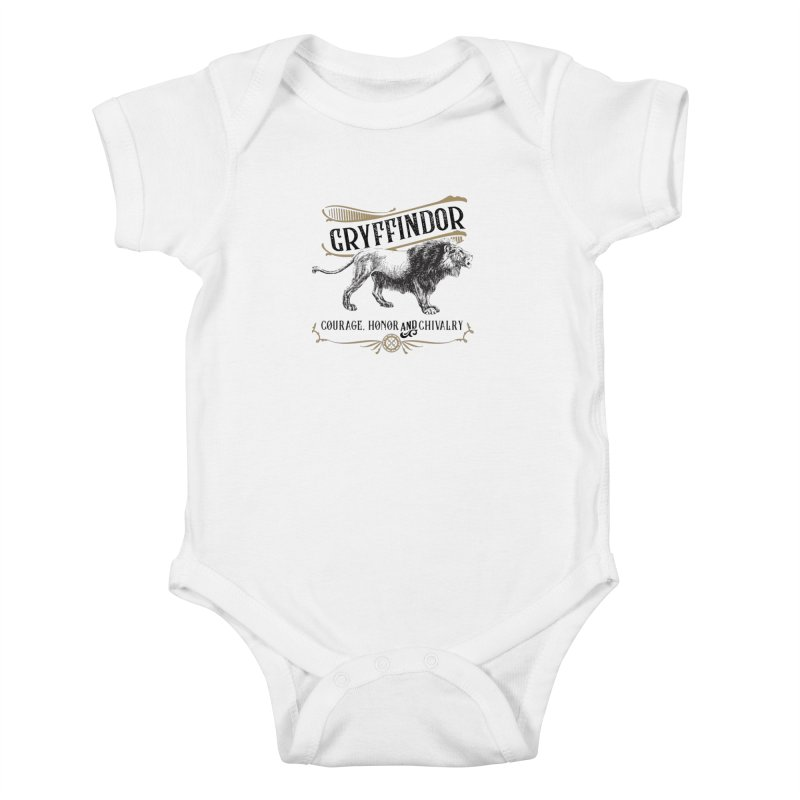 House of Gryffindor Kids Baby Bodysuit by Wicked and Wonder