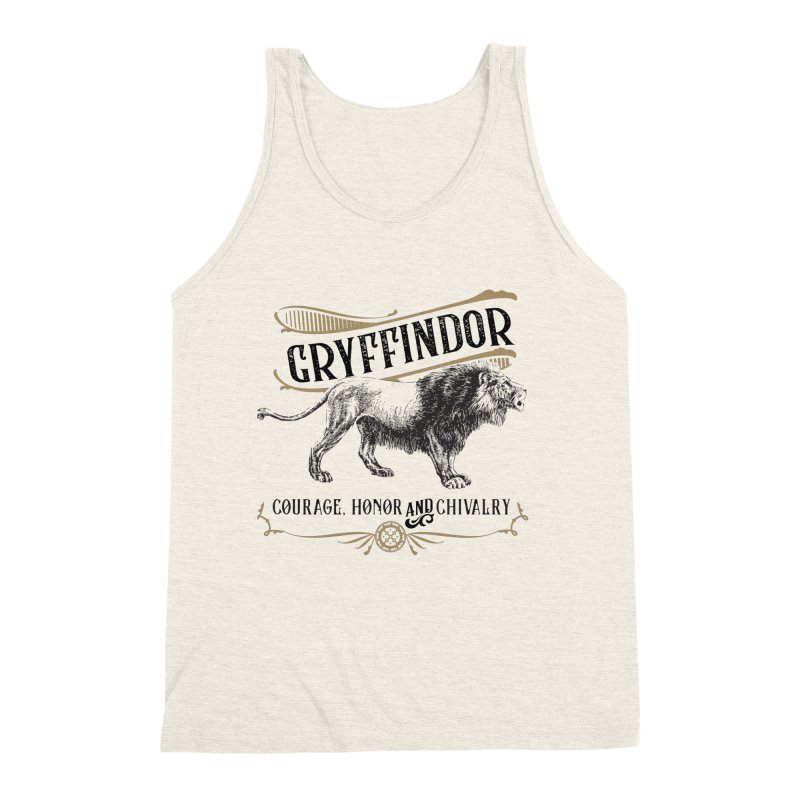 House of Gryffindor Men's Triblend Tank by Wicked and Wonder