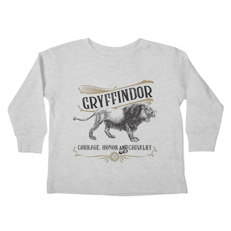 House of Gryffindor Kids Toddler Longsleeve T-Shirt by Wicked and Wonder
