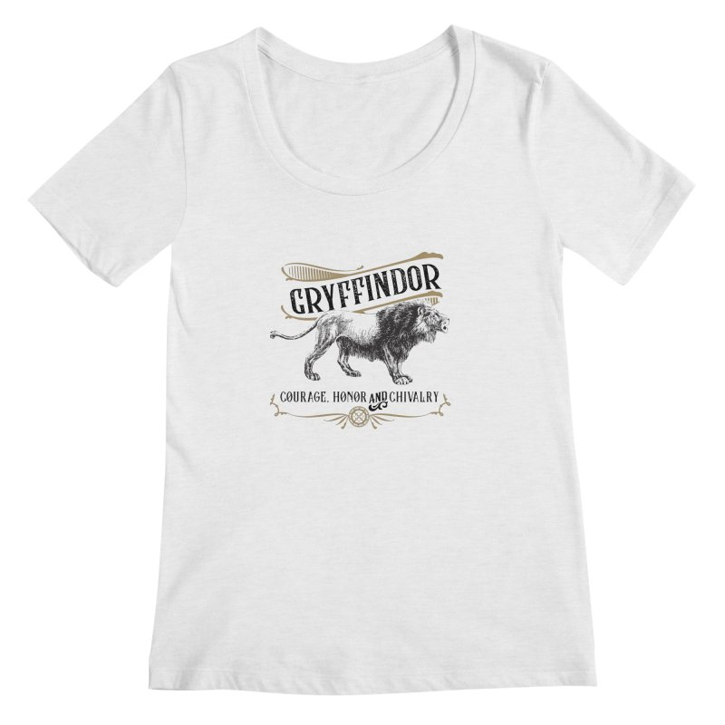 House of Gryffindor Women's Regular Scoop Neck by Wicked and Wonder