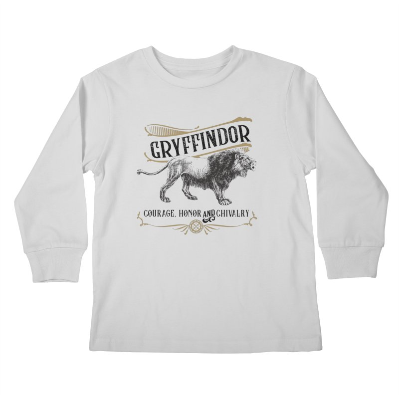 House of Gryffindor Kids Longsleeve T-Shirt by Wicked and Wonder