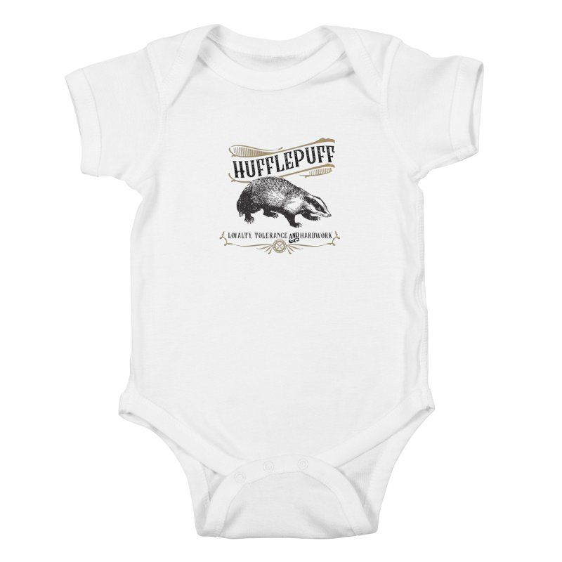 House of Hufflepuff Kids Baby Bodysuit by Wicked and Wonder