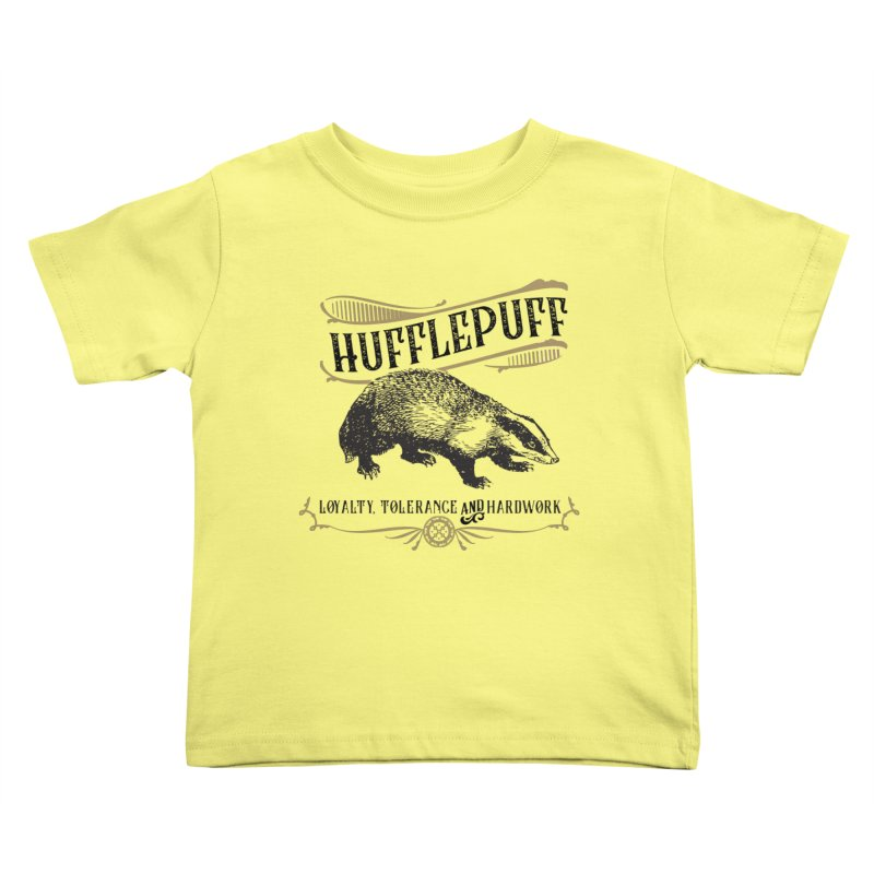 House of Hufflepuff Kids Toddler T-Shirt by Wicked and Wonder