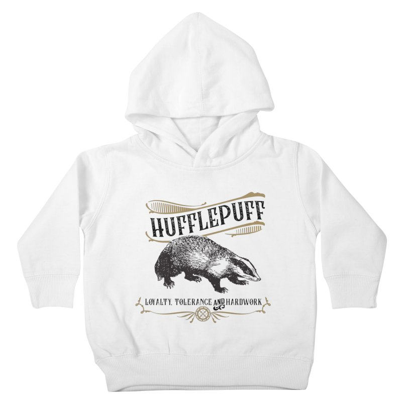 House of Hufflepuff Kids Toddler Pullover Hoody by Wicked and Wonder