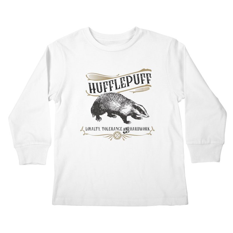 House of Hufflepuff Kids Longsleeve T-Shirt by Wicked and Wonder