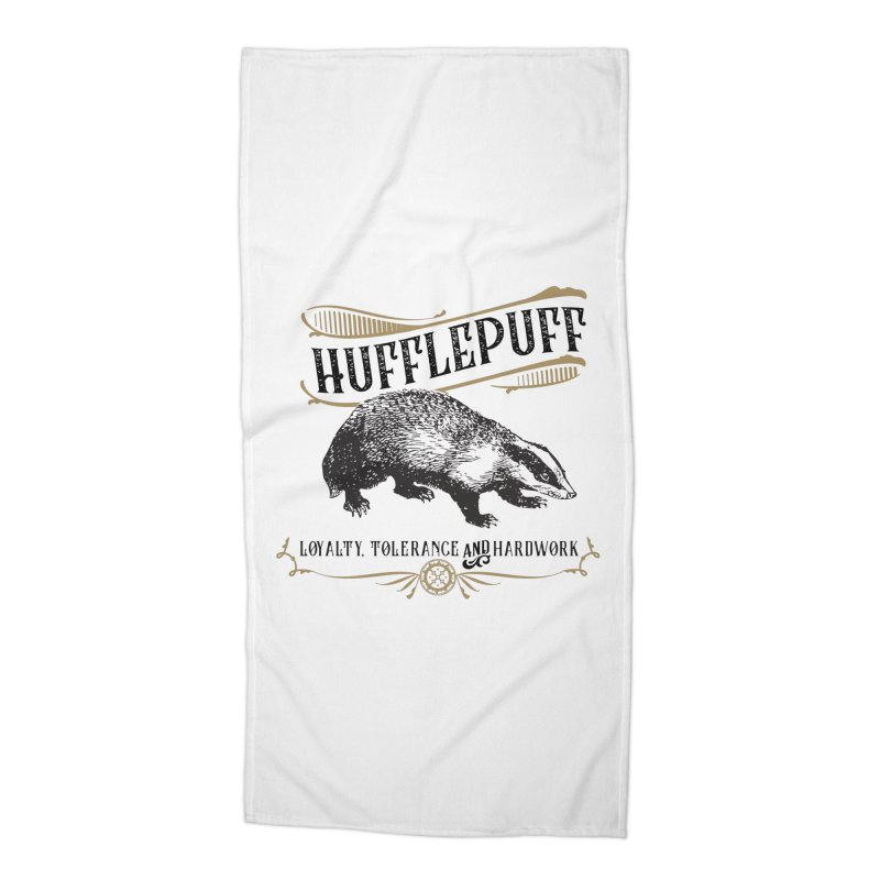 House of Hufflepuff Accessories Beach Towel by Wicked and Wonder