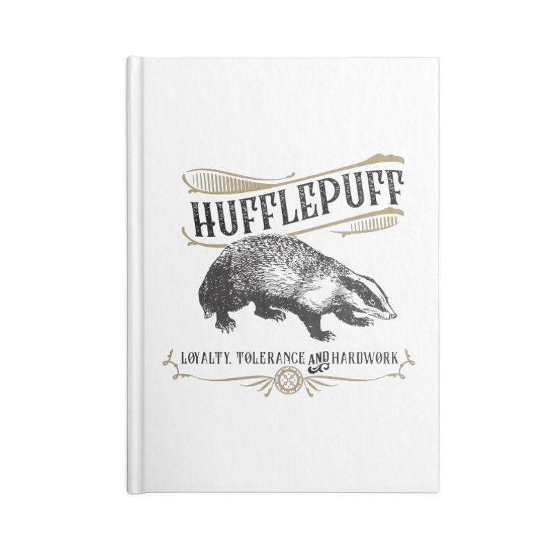 House of Hufflepuff Accessories Blank Journal Notebook by Wicked and Wonder