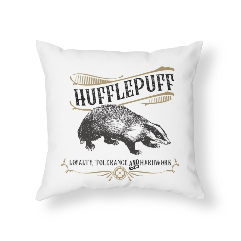 House of Hufflepuff Home Throw Pillow by Wicked and Wonder