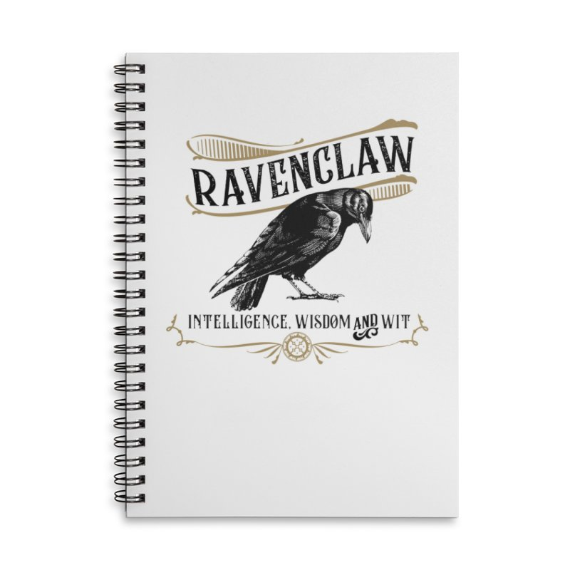 House of Ravenclaw Accessories Lined Spiral Notebook by Wicked and Wonder