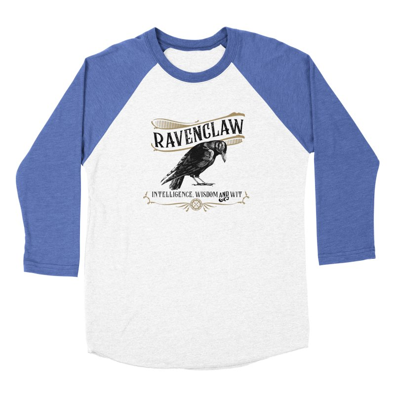 House of Ravenclaw Men's Baseball Triblend Longsleeve T-Shirt by Wicked and Wonder