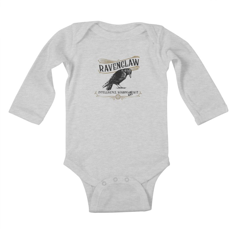 House of Ravenclaw Kids Baby Longsleeve Bodysuit by Wicked and Wonder