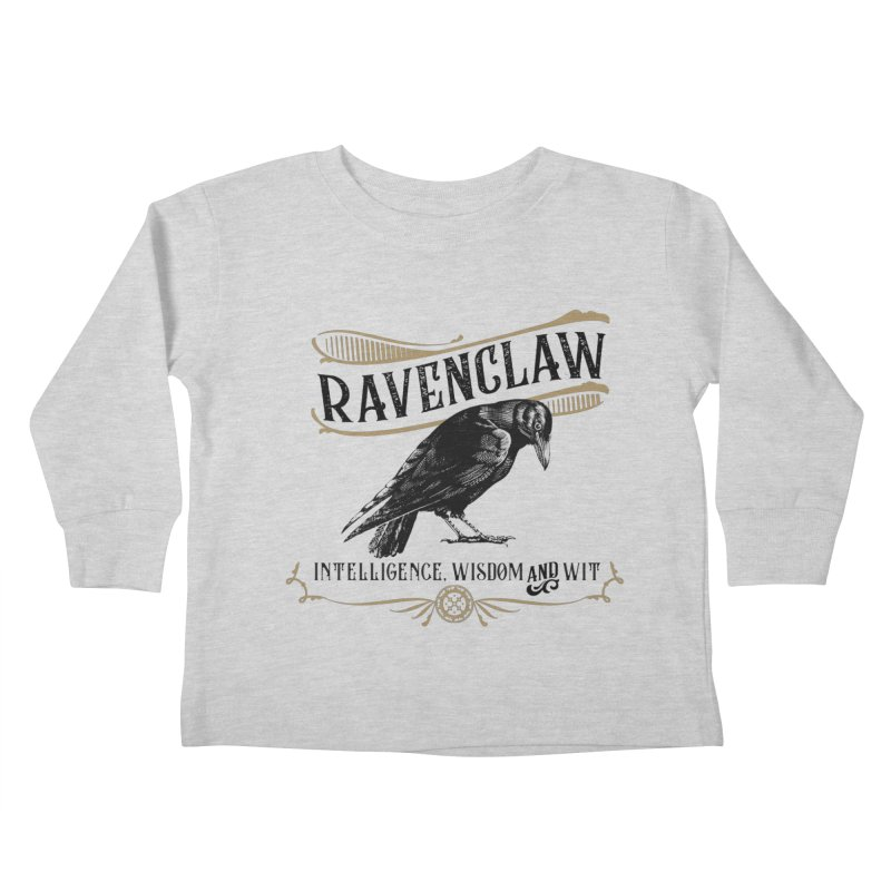 House of Ravenclaw Kids Toddler Longsleeve T-Shirt by Wicked and Wonder