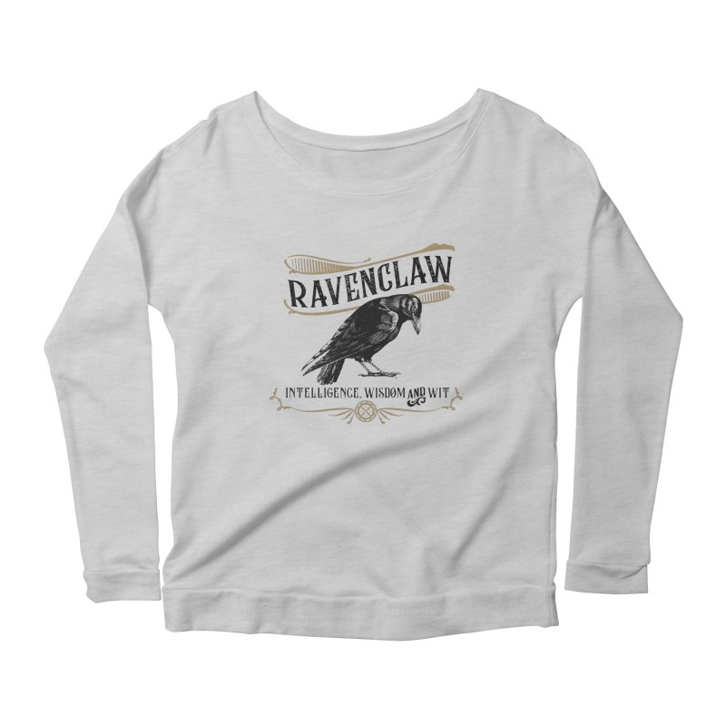 House of Ravenclaw Women's Scoop Neck Longsleeve T-Shirt by Wicked and Wonder