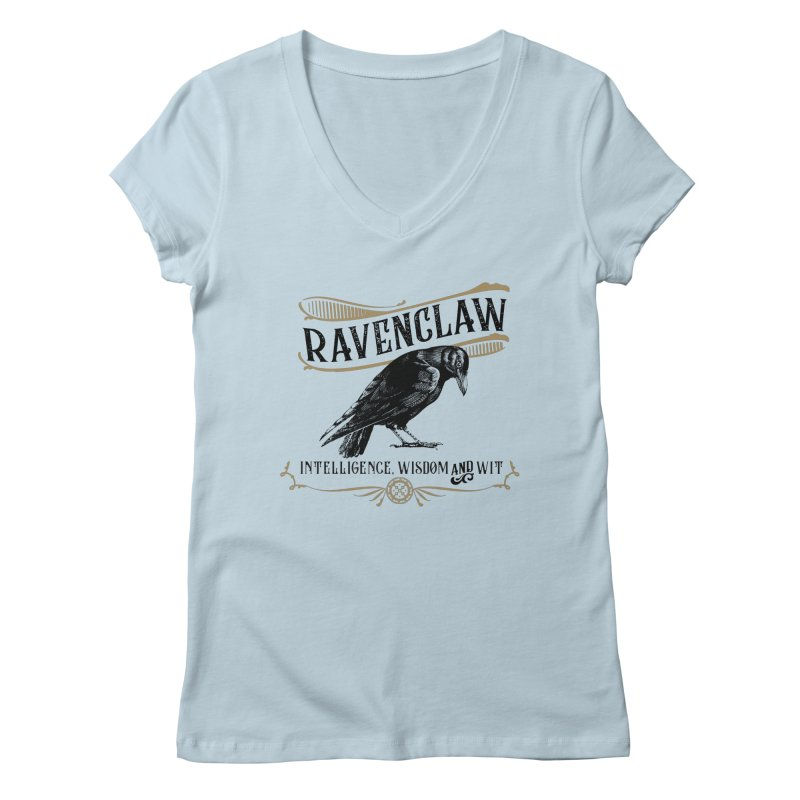 House of Ravenclaw Women's Regular V-Neck by Wicked and Wonder