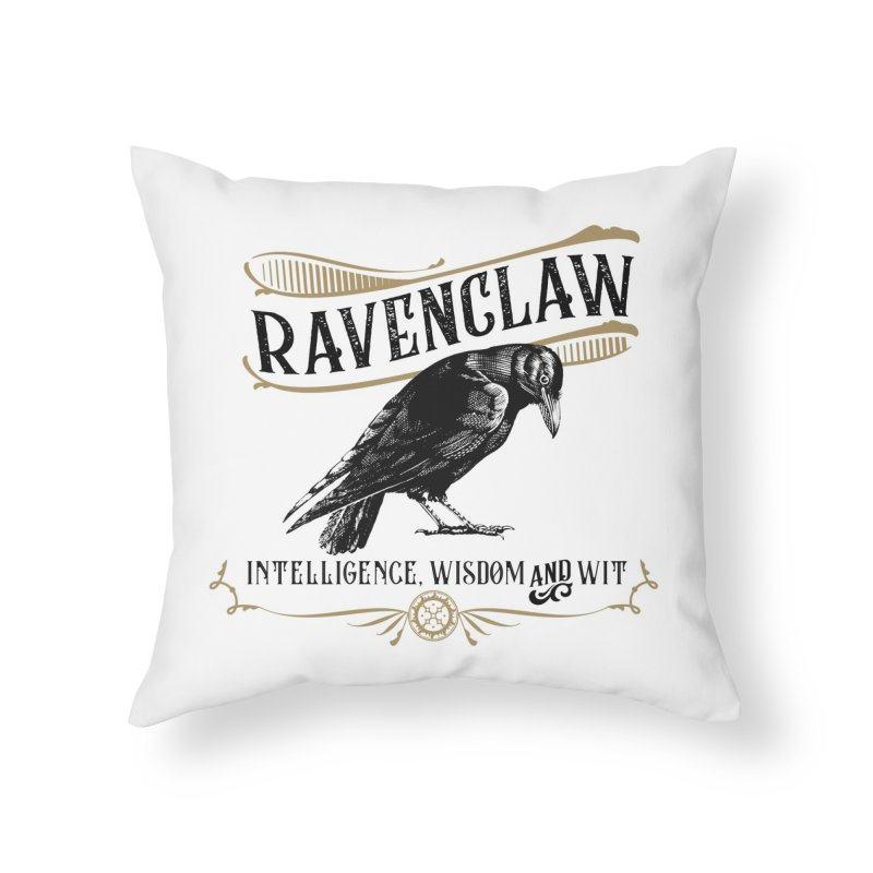 House of Ravenclaw Home Throw Pillow by Wicked and Wonder
