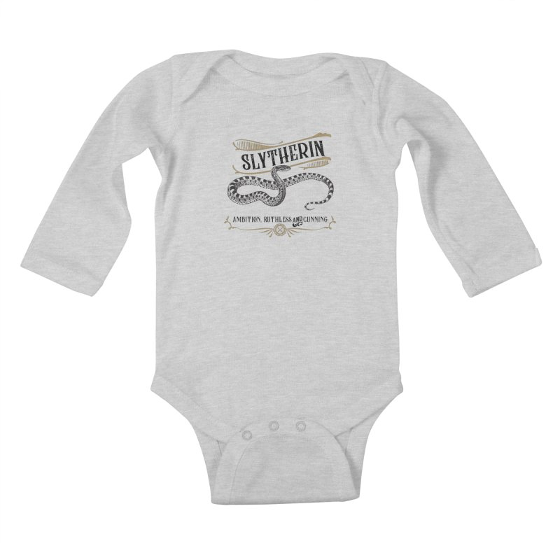 House of Slytherin Kids Baby Longsleeve Bodysuit by Wicked and Wonder