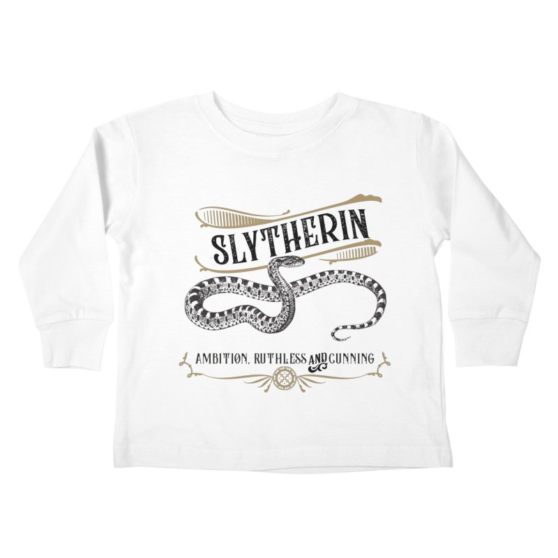 House of Slytherin Kids Toddler Longsleeve T-Shirt by Wicked and Wonder