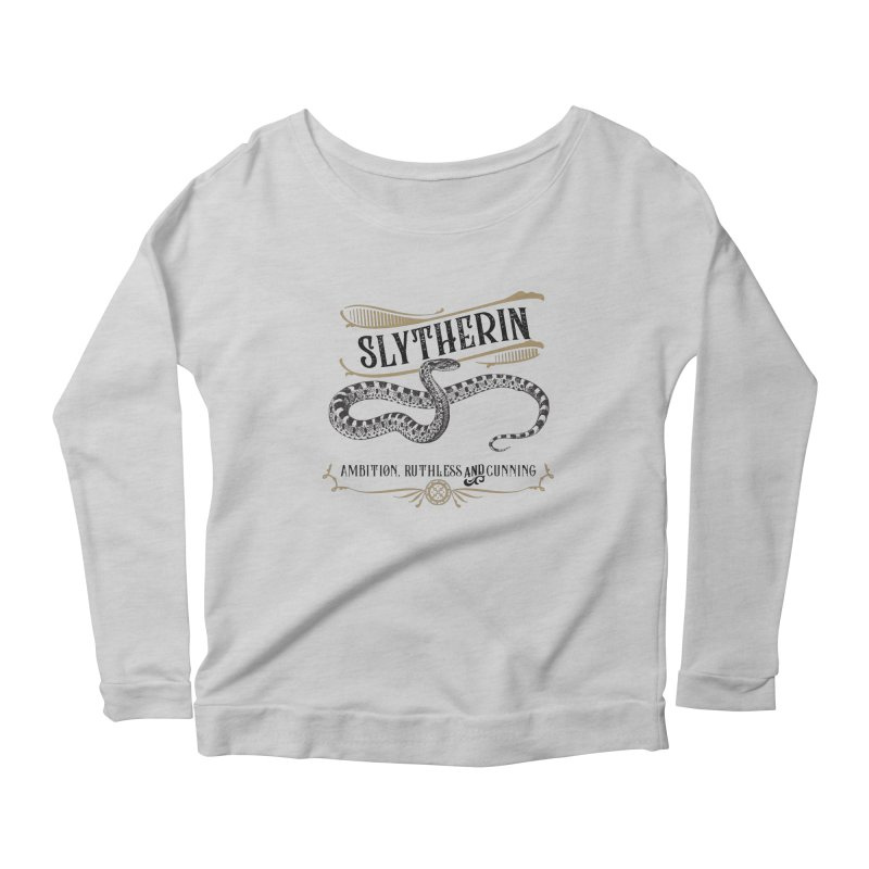 House of Slytherin Women's Scoop Neck Longsleeve T-Shirt by Wicked and Wonder