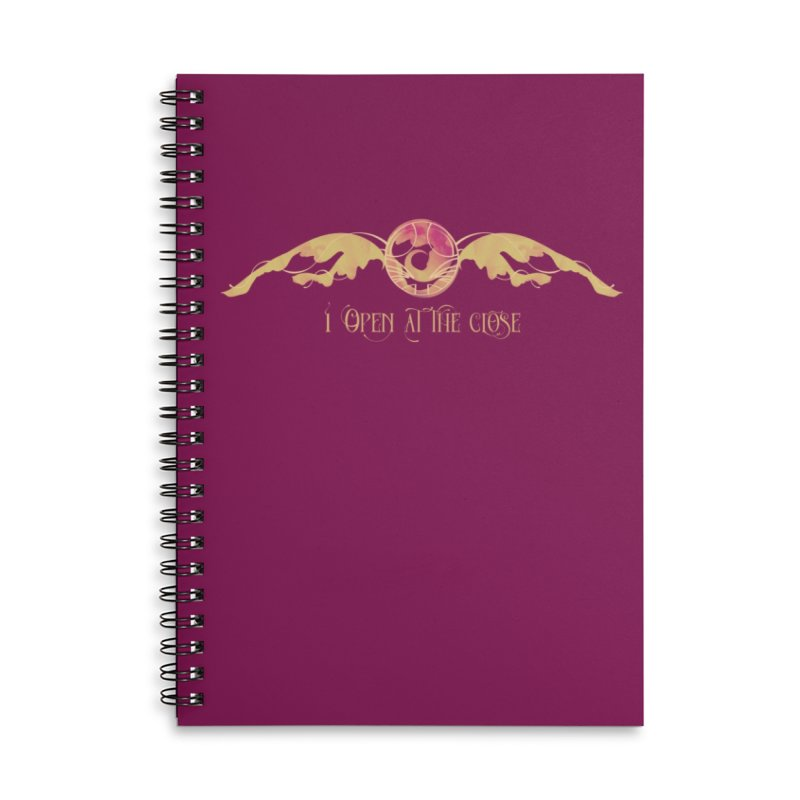 I Open at the Close Accessories Notebook by Wicked and Wonder