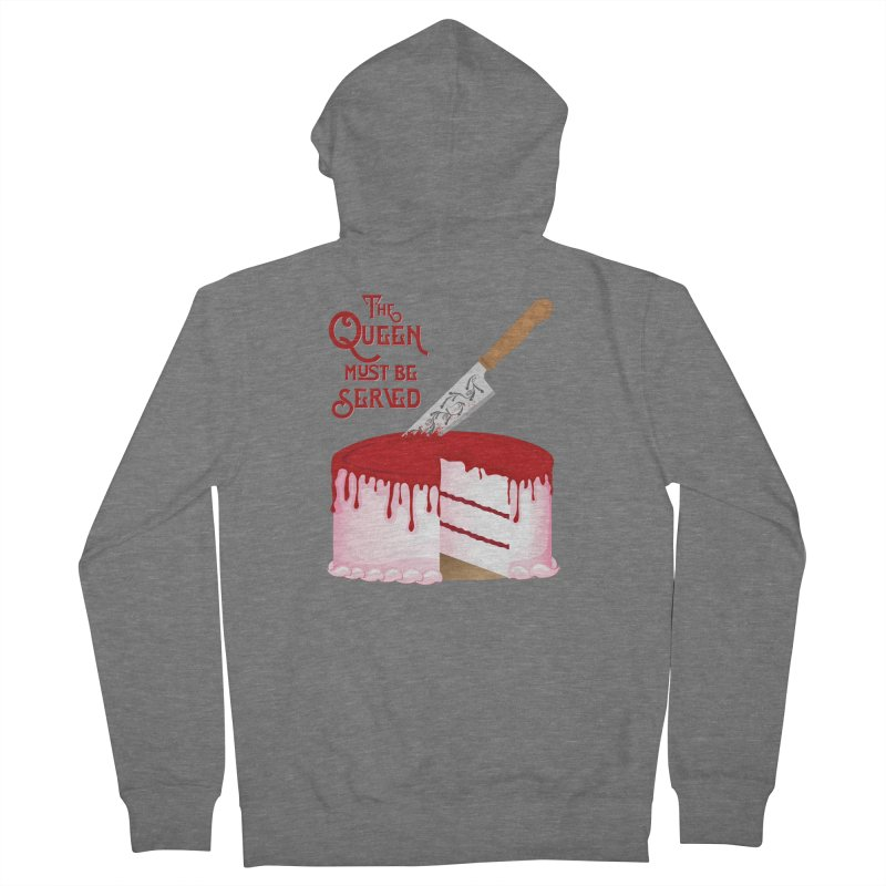 The Queen Must be Served Women's French Terry Zip-Up Hoody by Wicked and Wonder