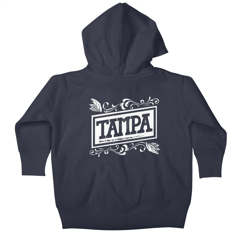 Tampa Kids Baby Zip-Up Hoody by municipal's Artist Shop