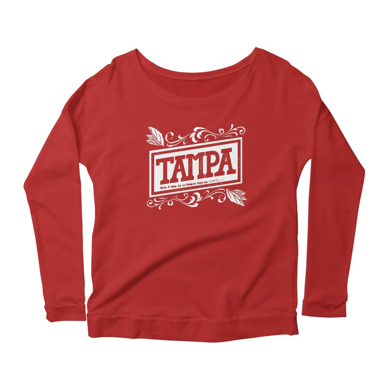 Tampa Women's Longsleeve Scoopneck  by municipal's Artist Shop