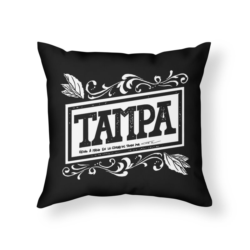 Tampa in Throw Pillow by municipal's Artist Shop