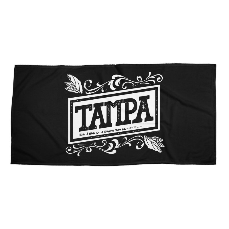Tampa Accessories Beach Towel by municipal's Artist Shop