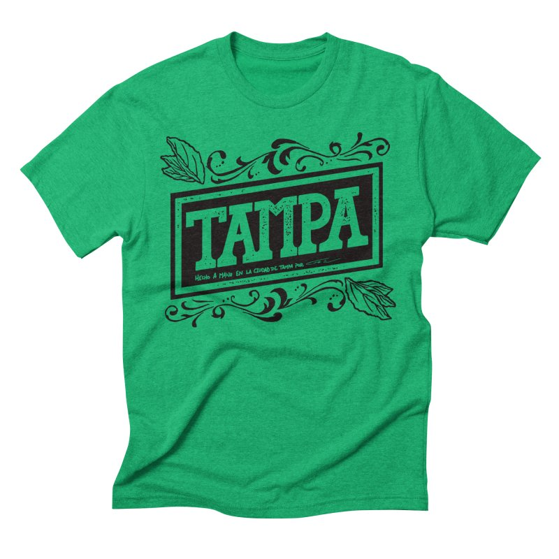 Tampa Alt in Men's Triblend T-shirt Tri-Kelly by municipal's Artist Shop