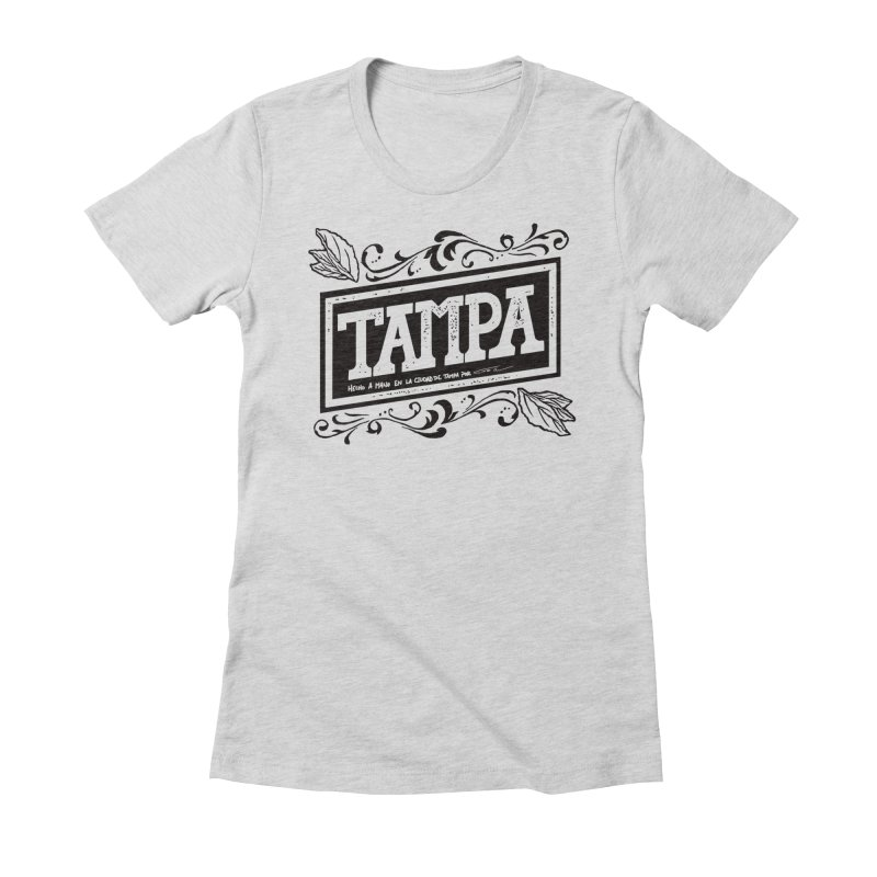 Tampa Alt in Women's Fitted T-Shirt Heather Grey by municipal's Artist Shop