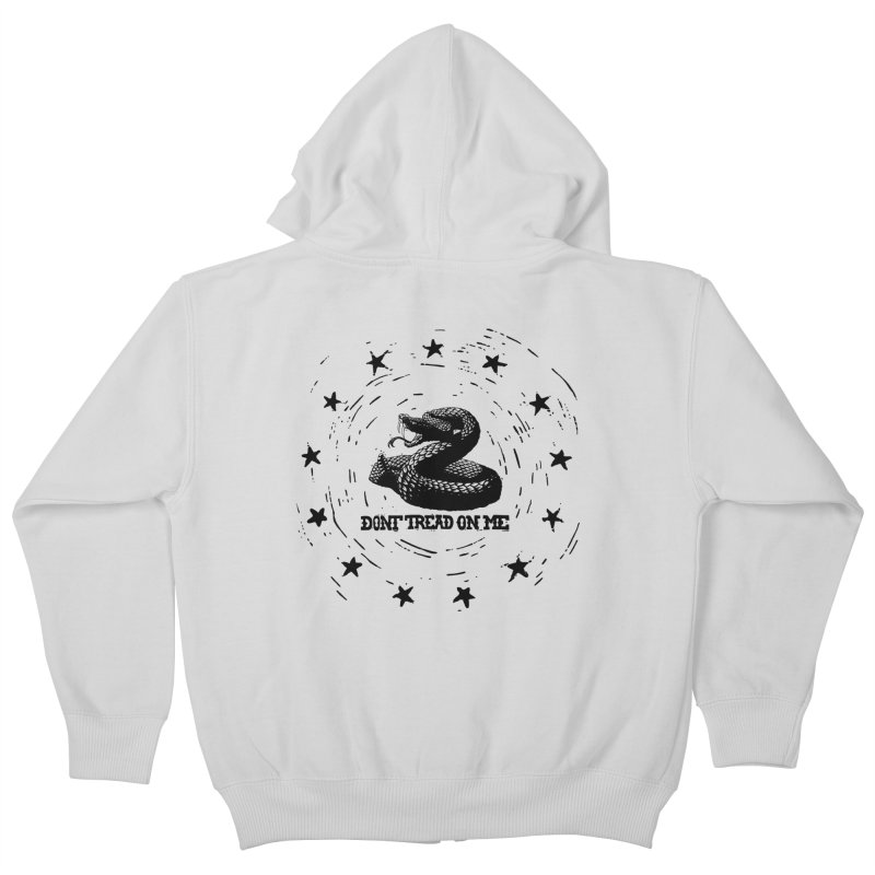 Dont Tread on Me Kids Zip-Up Hoody by municipal's Artist Shop