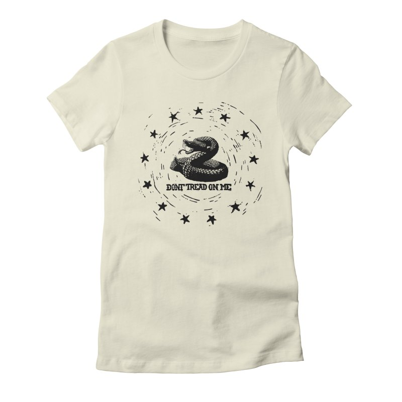Dont Tread on Me Women's Fitted T-Shirt by municipal's Artist Shop
