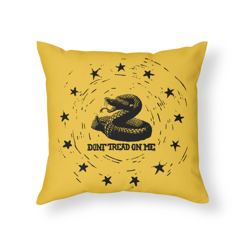 Dont Tread on Me Home Throw Pillow by municipal's Artist Shop