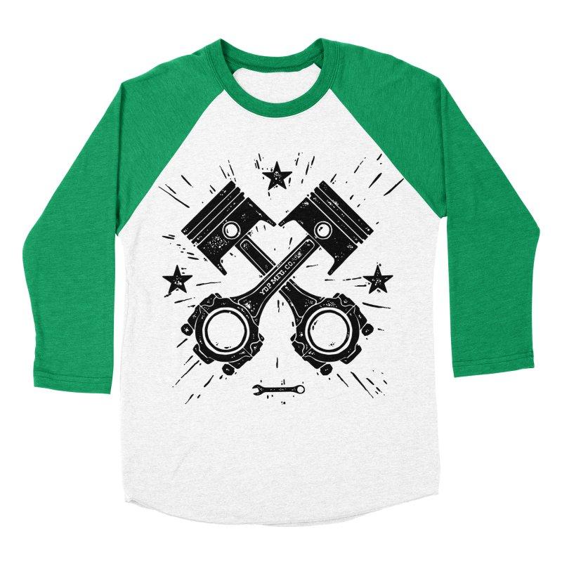 Pistons Men's Baseball Triblend T-Shirt by municipal's Artist Shop